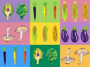 Vegetable Pop Art Art Print