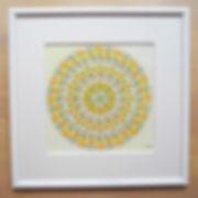 Gelb-grünes Mandala