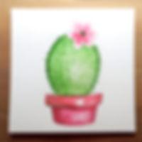 Wasserfarbe Kaktus
