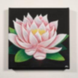 Seerose Acrylbild