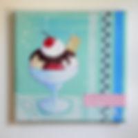Acrylbild Eisbecher