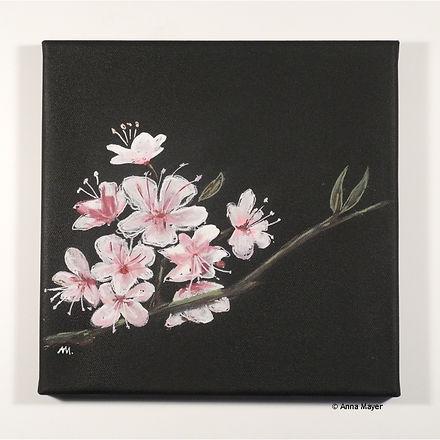 Kirschblüte Acrylbild ca.30 x 30 cm