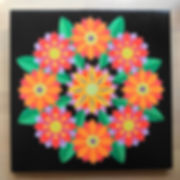 Blumen Mandala Acryl