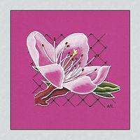 Kirschblüte Tuschezeichnung 10 x 10 cm