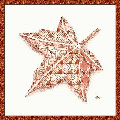 Zendoodle Herbstblatt