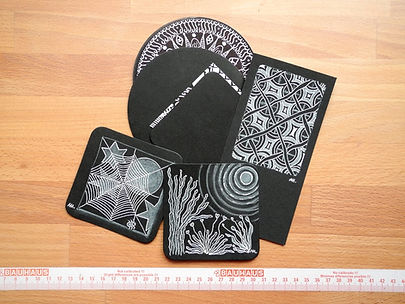 Tangle-Tiles schwarz