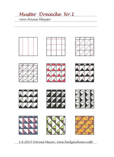 Muster Dreiecke Nr.1