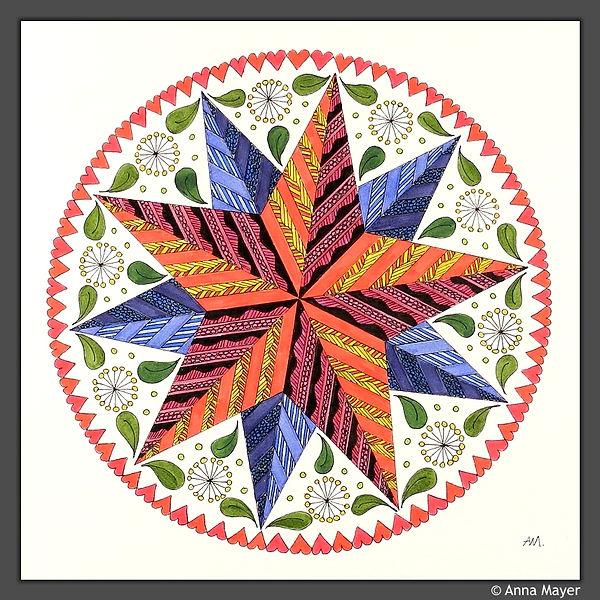 Stern Mandala groß
