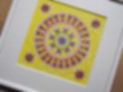 Mandala mit Tintenstiften