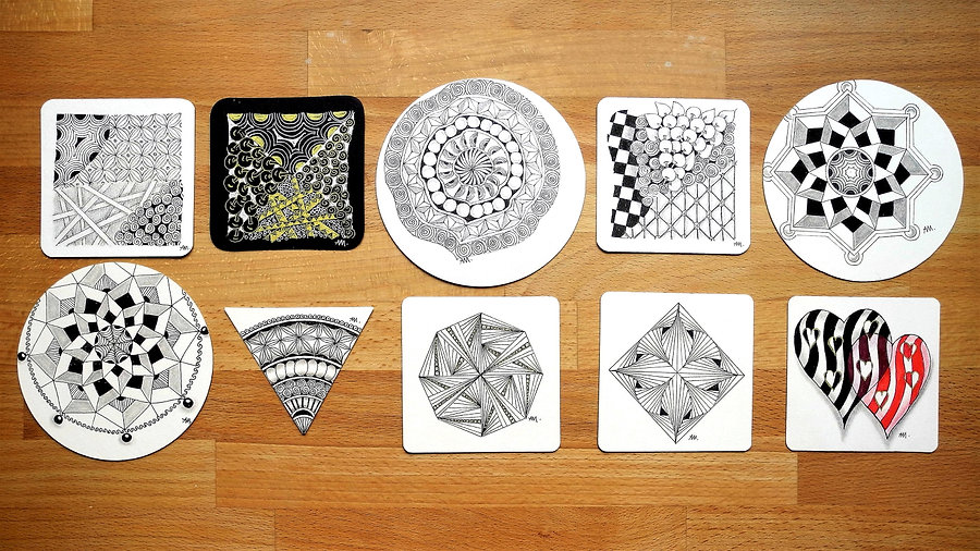 Zentangle Apprentice Projekt Pack A1