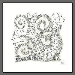 Zentangle Spiralen