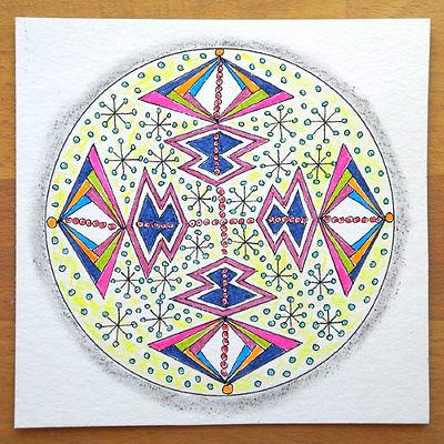 Scherenschnitt Mandala