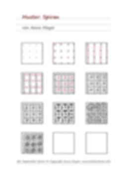 Schritt für Schritt Anleitung Muster Spiran