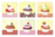 6 Aquarelle, Cupcakes