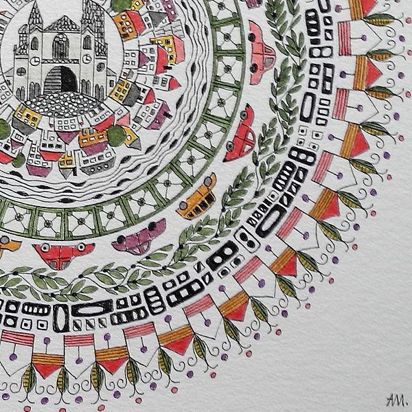 """Mandala """"Mein Wien"""" Detail"""