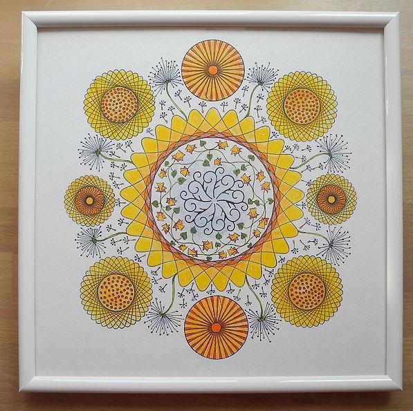 Mandala mit Spirograph
