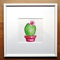 Kaktus Wasserfarbe