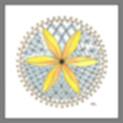 Zendala mit Muster Blumi