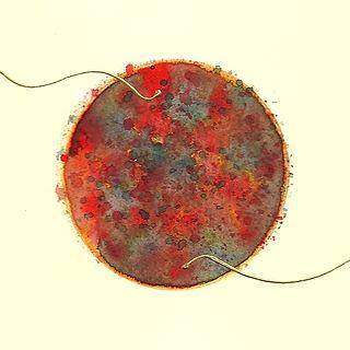 Feuerball Wasserfarbe