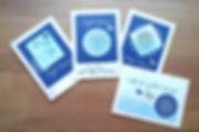 Karten mit Zen-Stempel