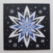 Schneestern Acrylbild