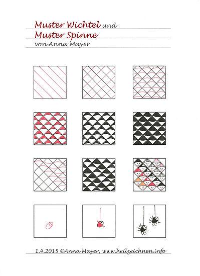 Muster Wichtel und Spinne
