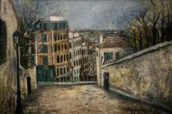 Rue du Mont-Cenis en Hiver