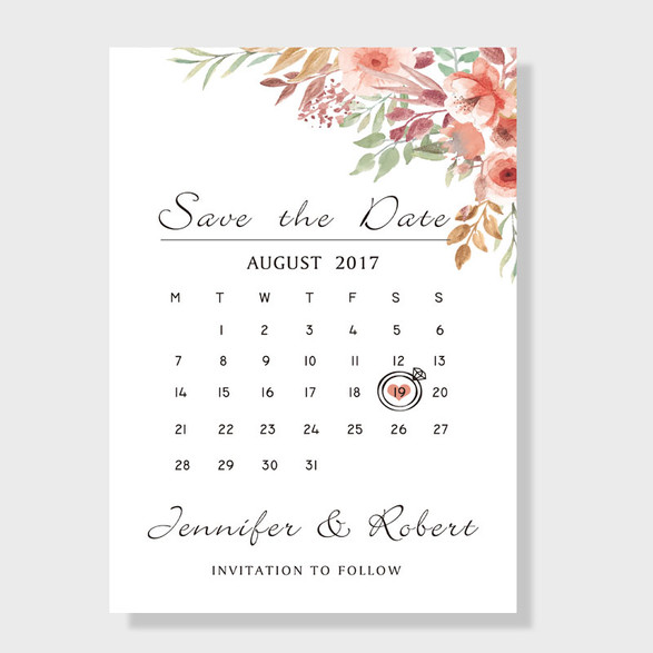 Save-the-date Calendar Magnet