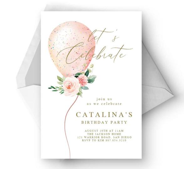 Lets Celebrate Invite