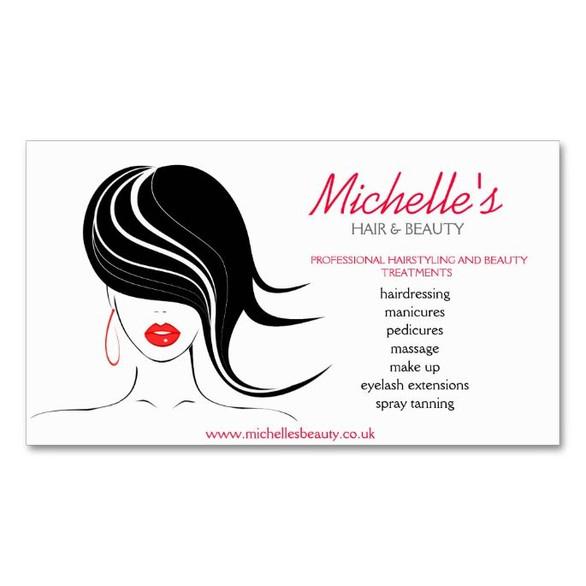 Hair Salon Business Card with Logo