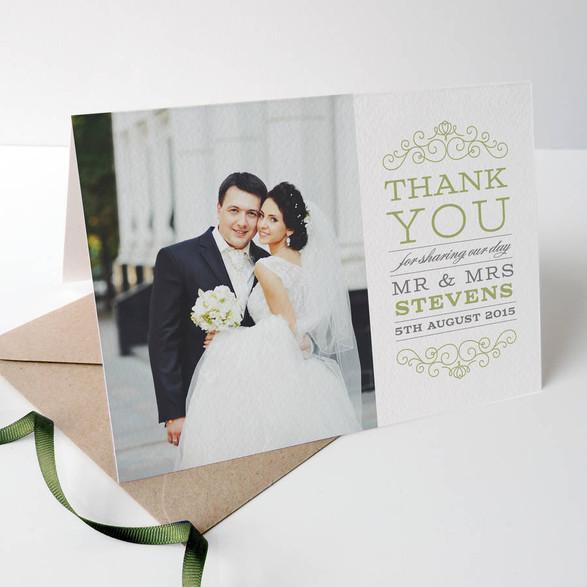 Thank you wedding card
