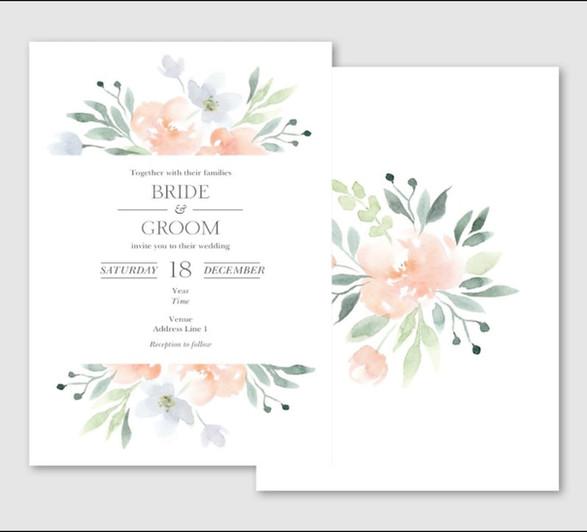 Summer Wedding Invite