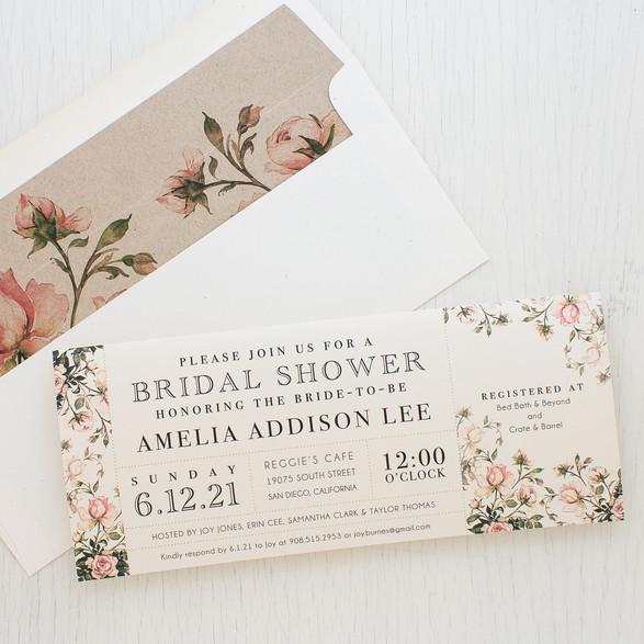 Summer Bridal Shower Invite