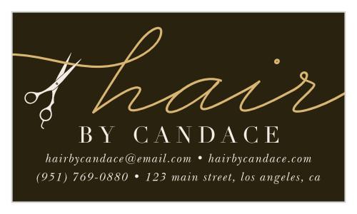 Hair Salon Business Card & Logo
