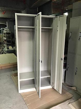AS025 2 Door 2 Compartment Locker/Dresser Cabinet