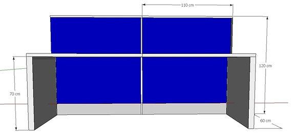 Partition 4 seater cubicle set
