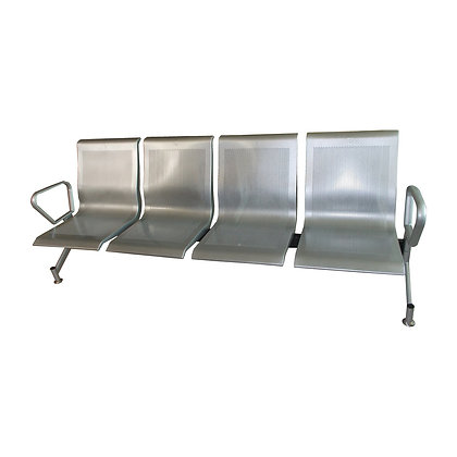 JYW-070P 4 Seater Metal Gang Chair (Silver)