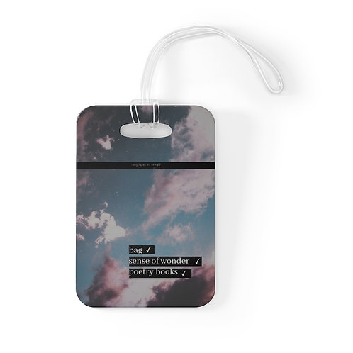 Poetry Statement- Luggage Tag