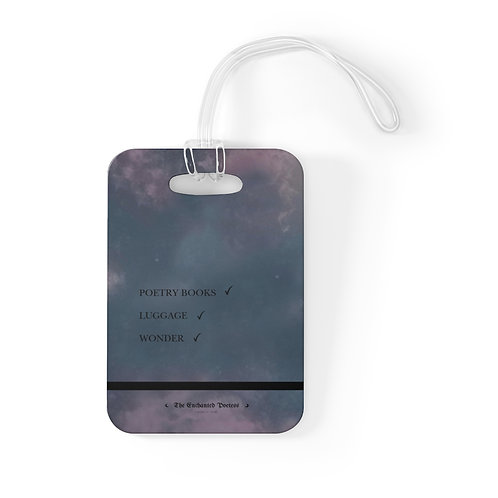 'Poetry Books' Luggage Tag