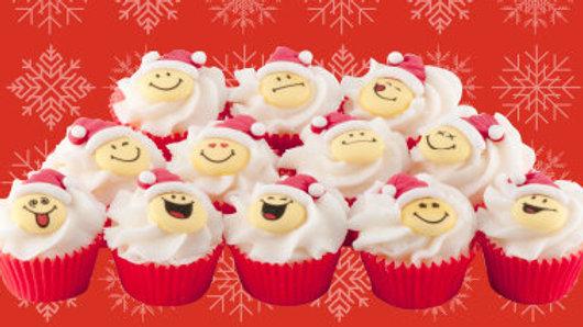 Christmas Smiley Mini Cupcake - Autour du Bain