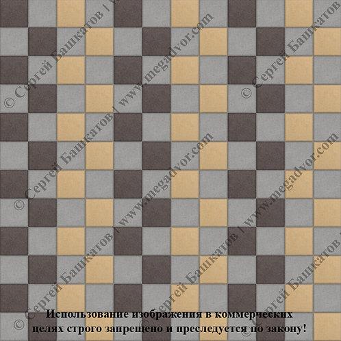 Квадрат 100х100 Стандарт (серый, коричневый, жёлтый)