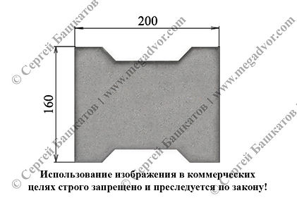Тротуарная плитка катушка размеры