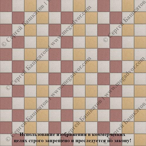 Квадрат 100х100 Стандарт (белый, красный, жёлтый)