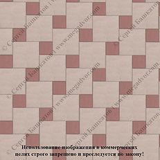 Тртуарная плитка квадрат и вставка