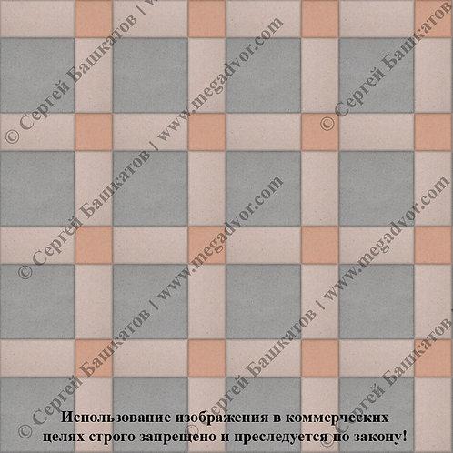 Квадрат 200*200 мм Корзинка (серый, бежевый, оранжевый)