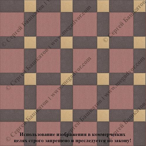 Квадрат 200*200 мм Корзинка (красный, коричневый,жёлтый)