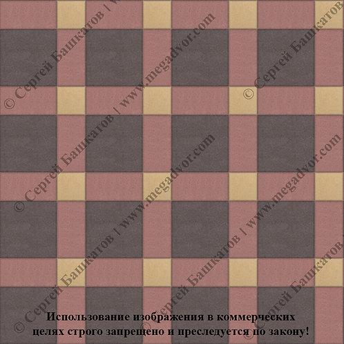 Квадрат 200*200 мм Корзинка (коричневый, красный, жёлтый)