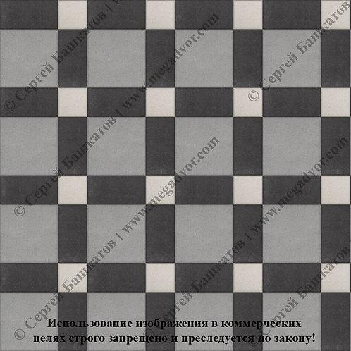Квадрат 200*200 мм Корзинка (серый, чёрный, белый)