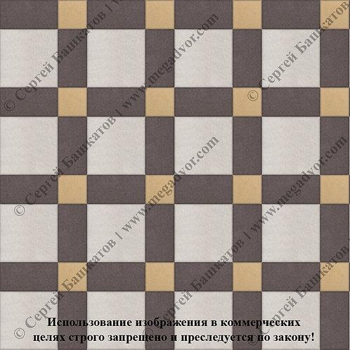 Квадрат 200*200 мм Корзинка (белый, коричневый, жёлтый)