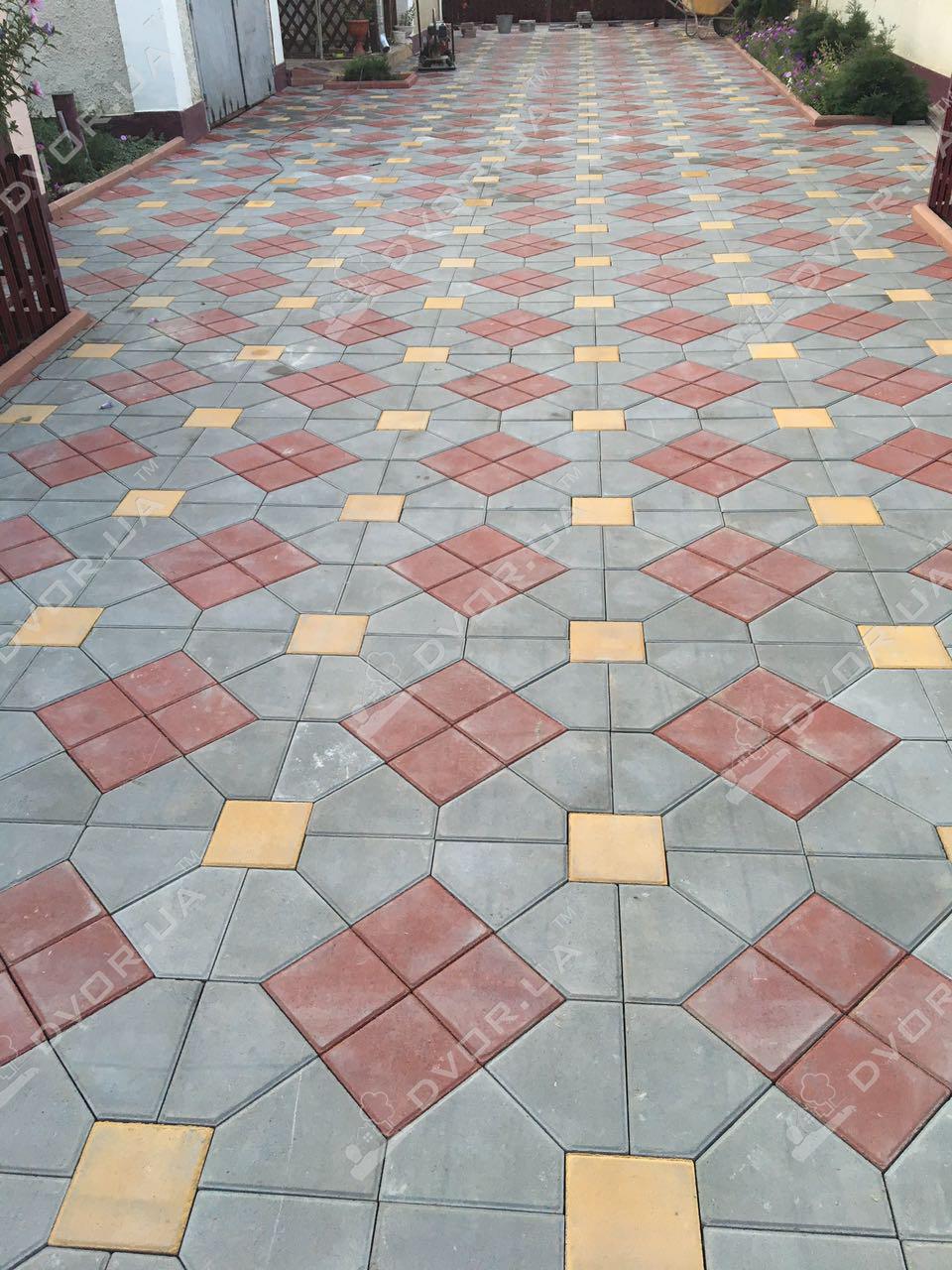 Тротуарная плитка Шапка Мономаха